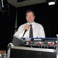 Photo of DJ David Graham with Microphone