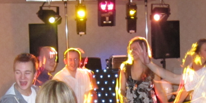 Guests dancing at a Birthday disco