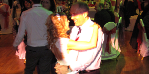 The Happy Couple's First Dance at their Wedding in Festival Hall, Bolton Town Hall, Lancashire