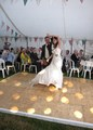 Joanne & Matt's Wedding First Dance in their marquee, in Westhoughton, Bolton
